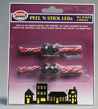MODEL POWER LED HO N SCALE PEEL 'N STICK LIGHTS resistor train MPW 510-1 LED NEW