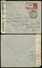 INDIA KG6 1944 SOLO 14A AIRMAIL CENSOR BOMBAY + REDIRECTED LONDON SW1