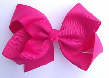 Large or Small Boutique Ribbon Hair Bow Alligator Clip 2 Sizes Available