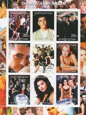 BEVERLY HILLS 90210 anni '90 LUKE PERRY telenovela 2000 MNH STAMP SHEETLET