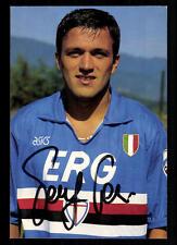Fauso Pari Autogrammkarte Sampdoria Genua Original Signiert +A 102839