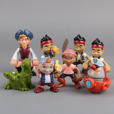 JAKE Y LOS PIRATAS DE NUNCA JAMAS - SET 8 FIGURAS PVC 5-9cm / NEVERLAND PIRATES