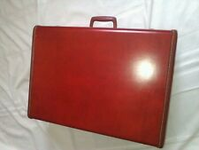 Vintage Nice Original Samsonite Locking Leather Suitcase With Key