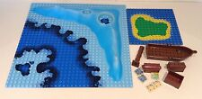 LEGO PIRATE BUNDLE - 3D, 32 X 32 STUD SEA, ISLAND, BOAT, MAPS