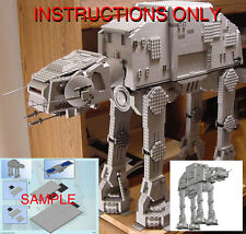 CUSTOM Star Wars Empire HOTH AT AT Imperial Walker (Lego Instructions Only! )