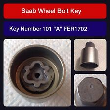 "Genuine Saab locking wheel bolt / nut key FER 1702 101 ""A"""