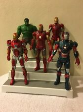 "Marvel Comic Talking Iron Man And Incredible Hulk Action Figure Lot (5) 10"" Tall"