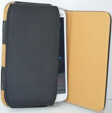 Premium Leather Belt Pouch Magnetic Flip Cover ZTE Grand SII Black