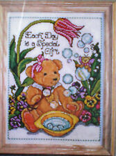 "Teddy Blowing Bubbles ""Special Bear"" Counted Cross Stitch Kit Tiny Teddy Fairy"