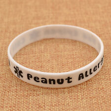 Peanut Allergy Alert Wristbands Medical ID Silicone Bracelet Health Alert 1PC