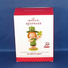 Hallmark - St. Patty's Day? Peanuts All Year Long #8 Keepsake Ornament - NEW