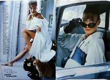 CARLA BRUNI  in AUDREY HEPBURN Style =  6  pages 1988 french clipping !!!