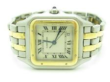 Pre-Owned Vintage Women's Cartier Two Tone Gold Panther Link Quartz Date Watch