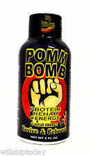 12 POMM BOMB Protein Rehab 2 oz energy shot drink with vitamin B12 B6
