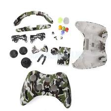 Camo Green Skin Housing Case Cover Shell Buttons for Xbox 360 Controller
