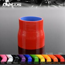 "2 1/4"" to 2 1/2"" 57mm - 64mm Straight Reducer Silicone Turbo Hose Coupler Red"