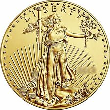 RANDOM YEAR Gold American Eagle (GAE) 1/2oz (Half Ounce) $25 BU