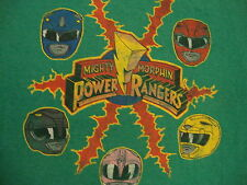 Mighty Morphin Power Rangers Classic Kids Show Distressed Green T Shirt L