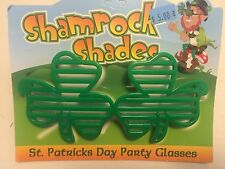St Patricks Day Green Retro SHUTTER SHADES PARTY GLASSES leprechaun Irish clover