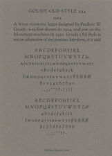 New Letterpress Type- 12pt. Goudy Old Style complete font