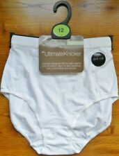 White M&S Anti Roll Soft Comfortable Secure Ultimate Full Brief Knickers 12 BNWT