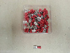 100 Pc ELECTRICAL INSULATED CRIMP RED FEMALE SPADE 6.35mm 12 Volt 4x4 HOBBY