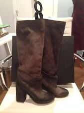 Marsell Bolla Dk Gray Knee High Boots 39 $1400+!!