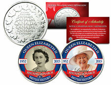 QUEEN ELIZABETH *Reigning Monarch* Set of 2 Royal Canadian Mint Medallion Coins