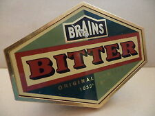 Brains Bitter Original Gravity AleThick Plastic Bar Beer Pump Clip Collectible