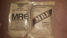 2017 Genuine Military MRE's 2 Meals sample  Ready 2 Eat Hunting fishing Camping