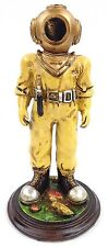 "7"" Deep Sea Diver Figurine Nautical Statue With Mark V Helmet"