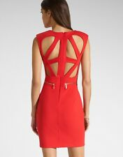 BNWT Red Lipsy Kardashian Cut Out Back Zip Detail Bodycon Shift Dress UK8 *SALE*