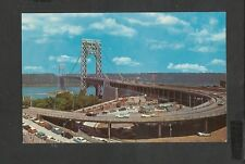 Postcard George Washington Bridge Spans the Hudson River-NJ & New York U.S.A.