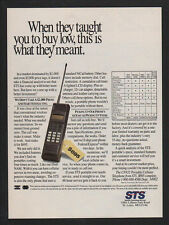 1989 STS Portable Celular Telephone Retro 1980's Cell Phone VINTAGE ADVERTISEMEN