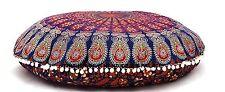 Indian Hauptdekor Mandala Boden Kissen Kissenbezug Ethnische Baumwolle Rund Kuns