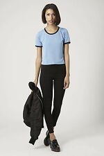 Topshop Contrast trim Cropped tee top , UK Size 8  ( LAST TWO )