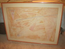 """Tom Holland """"Ryder"""" 1972 Limited Edition 34/55  framed Abstract Lithograph print"""