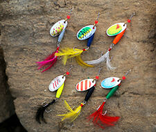 6PCS Bass, Salmon and Trout Annihilator Spinner Fishing Lure Bait Kit