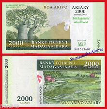 MADAGASCAR 2000 ariary 2007 COMMEMORATIVE  Pick 93 SC / UNC