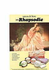 PUBLICITE  ADVERTISING  1980   4711  RHAPSODIE  savons de luxe