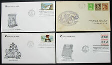 US postage set of 4 Illustrated covers Letters envelopes FDC USA lettere (h-8278