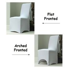50 pcs Spandex Lycra Decoration Party Chair Covers - Flat Front, White