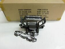 1 Duke # 4 Rubber Jaw 4 Coil Spring Traps  Beaver Coyote Lynx Trapping 0505