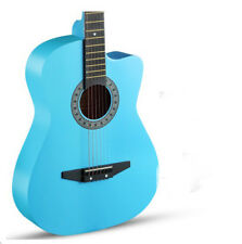 Sky Blue New High-Grade 38 inch Basswood Musical Instruments Acoustic Guitar #