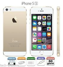 APPLE iPhone 5S 16gb GRADO A/B CON ACCESSORI + GARANZIA + CONTRASSEGNO GOLD ORO