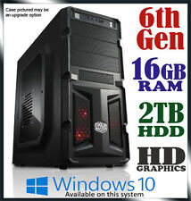 Intel Dual Core 16GB Ram 2TB Gaming Office Desktop System Computer PC i5 i7 Upg