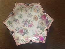 "RETIRED MACKENZIE CHILDS GORGEOUS CHELSEA LUSTRE 2003 11.25"" LG FLORAL PLATE"