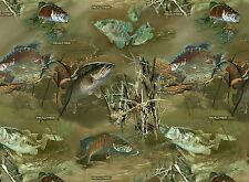 Realtree Fish Under Water Sports Fishing Print Concepts Fabric #4691