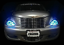 2001 - 2005 Chrysler PT Cruiser 16 Color / Multi-Color LED HALO Headlight Set