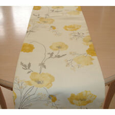"NEW 48"" Table Runner 120cm Laura Ashley Poppy Meadow Primrose Yellow 4ft Poppies"